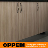 Меламина формы высокого качества u Oppein кухонный шкаф современного деревянный (OP15-M03)