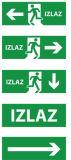 La DEL quittent le signe, lumière Emergency, signe de sortie de secours de DEL, signe de DEL
