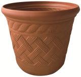 藤のプラスチック植木鉢(KD9422)