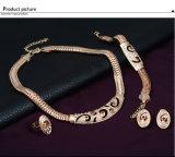 Conjunto de la joyería del PCS del anillo 4 de la pulsera del pendiente del collar de la manera