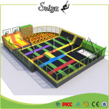 Parque atrativo do Trampoline do esporte da alta qualidade multi com parede de escalada