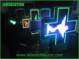 Farmácia de uso ao ar livre LED Cross Power Inside Waterproof Cross Pharmacy