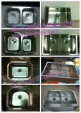 流し、台所の流し、Handmade Sink、Undermount Double Sink 8653A (70/30)