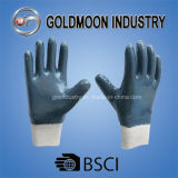 Полно окунутые перчатки голубой ладони нитрила покрытые