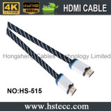 Кабель 4k HDMI Kable полное HD 2160p логоса M/M OEM с Nylon сетью