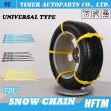 La plastica con la rotella della lega concatena le catene di neve della gomma di Snowchains