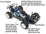 4X4 RC Car Hsp R / C Toy 1/10 Alimenté au gaz