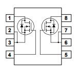 이중 N-Channel에 의하여 지정되는 Powertrench Mosfet Eelectronic 분대