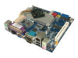 ネットワークファイアウォールのパソコンIntel原子D525プロセッサが付いている小型ITX産業マザーボード