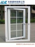 Fenêtre en aluminium de revêtement de tissu pour rideaux blanc de poudre populaire