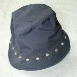 Chapeau/chapeau bleu-foncé de rivets pour l'adulte