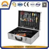 Nuova cassetta portautensili di alluminio nera con la gomma piuma piena di 100% (HT-1115)