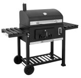 Outdoor Charcoal BBQ Grill Smoker para churrasco de pelota de madeira