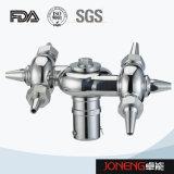 ステンレス鋼の衛生学のボルトで固定された回転式スプレーの球(JN-CB1003)