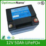 Batería profunda de la batería 12V 50ah LiFePO4 del ciclo