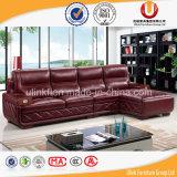 Sofà moderno rosso, mobilia di cuoio del sofà (UL-X8072)