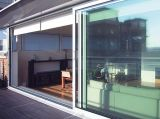Низкая раздвижная дверь двойной застеклять e стеклянная алюминиевая