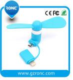 Regalo promocional 2 en 1 mini ventilador USB para la fuente de alimentación móvil