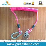 Cuerda resistente W/Carabiner de la seguridad del color rosado retractable