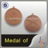 Medalla redonda canadiense de la aduana de la natación