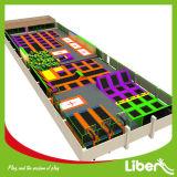 Parque de trampolim interior de cor opcional com trampolim olímpico