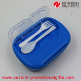 Im FreienPortable Plastic Rectangle Bento Box mit Fork Spoon