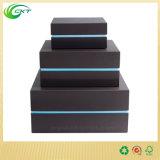 주문 로고 (CKT-PB-003)를 위한 호화스러운 Handmade 보석 반지 포장 상자