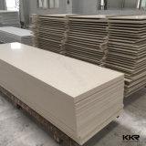Couleur blanche panneau de mur extérieur solide en pierre acrylique de 12 millimètres