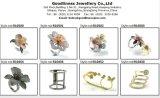 工場直接価格925のイタリアの銀製の白い真珠のリング(R10570)