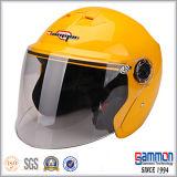 빛나는 황색 열리는 마스크 모터바이크 또는 기관자전차 또는 스쿠터 헬멧 (OP229가)