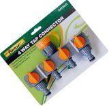 De 4-manier van de Montage van de Slang van de tuin ABS de Adapter van de Kraan van de Schakelaar van de Kraan van het Water