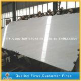 Lastre di marmo bianche come la neve poco costose della Cina per i controsoffitti, parti superiori di vanità