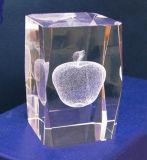 Grado libero K9 un laser 3D all'interno del blocchetto di cristallo del cubo