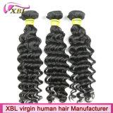 Trança profunda do cabelo da onda do cabelo peruano de Remy do Virgin