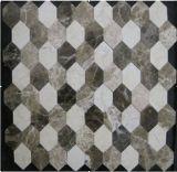 2016 Las últimas Natural Hexagonal mosaico de piedra para Televisión Azulejo (FYSSC040)