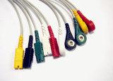 Hellige Snap&Klipp 10pin 5 Kabel des Kabel-ECG