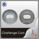 Flaschen-Öffner-Münzen des Metall3d silberne