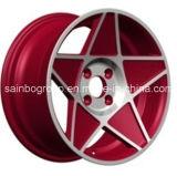 Оправа колеса красного колеса сплава автомобиля вогнутая