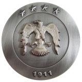 Монетка сувенира антиквариата заливки формы сплава цинка с отделкой золота