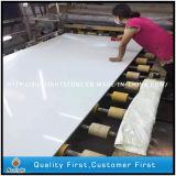 Pietra di marmo di superficie solida artificiale bianca del quarzo di Calacatta per le mattonelle/controsoffitti