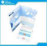Dépliant de présentation de papier d'imprimerie avec la fente de carte de visite professionnelle de visite