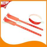 Bracelet remplaçable fait sur commande de bracelets d'identification de plastique de divertissement professionnel (E8020-54)