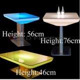 Tavolino da salotto quadrato moderno del LED nel cambiamento di colore di RGB