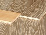 La cendre a machiné le plancher en bois de relief