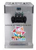 Máquina macia do gelado do cilindro dobro modelo da tabela/cor dobro