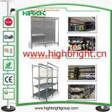Uno para los equipos del supermercado del sistema de los estantes de la góndola de la solución