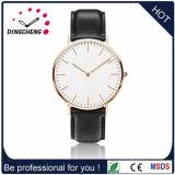 2016 het Geval van de Legering van het Horloge met de Uitstekende kwaliteit van het Horloge van Dw van de Riem van Pu met het Goedkope Polshorloge van de Prijs (gelijkstroom-666)