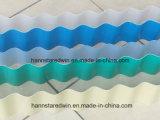 El PVC de la cubierta de azotea del Carport acanaló los azulejos de material para techos de la onda del PVC del material de la ripia del material para techos