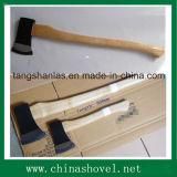 Ascia del acciaio al carbonio dell'utensile manuale del hardware dell'ascia con la maniglia di legno