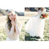 Платье венчания втулки шнурка V-Шеи лета пляжа длиннее (SA009)